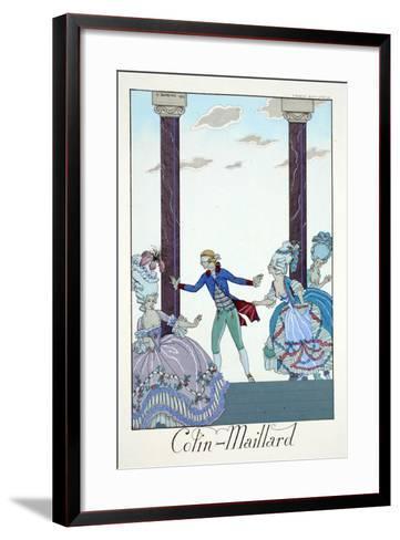 Blind Man's Bluff, from 'Falbalas and Fanfreluches, Almanach des Modes Présentes, Passées et…-Georges Barbier-Framed Art Print