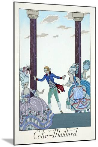 Blind Man's Bluff, from 'Falbalas and Fanfreluches, Almanach des Modes Présentes, Passées et…-Georges Barbier-Mounted Giclee Print