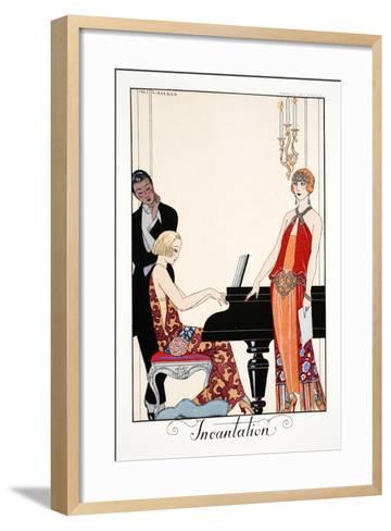 Incantation, from 'Falbalas and Fanfreluches, Almanach des Modes Présentes, Passées et Futures',…-Georges Barbier-Framed Art Print