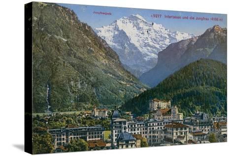 Jungfraujoch - Interlaken and Jungfrau in Switzerland. Postcard Sent in 1913-Swiss photographer-Stretched Canvas Print