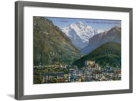 Jungfraujoch - Interlaken and Jungfrau in Switzerland. Postcard Sent in 1913-Swiss photographer-Framed Art Print