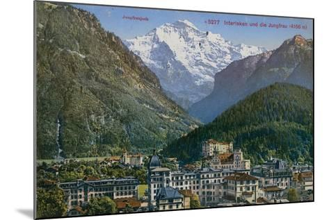Jungfraujoch - Interlaken and Jungfrau in Switzerland. Postcard Sent in 1913-Swiss photographer-Mounted Giclee Print