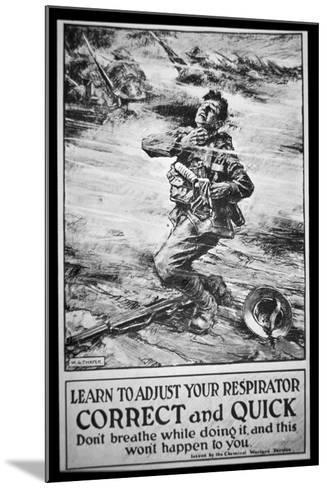 American Army Poster Warning of Gas Attack, 1918-W. G. Thayer-Mounted Giclee Print