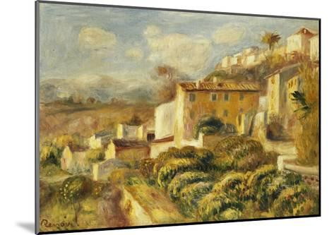View of the Post Office, Cagnes; Vue de La Poste, Cagnes, 1907-Pierre-Auguste Renoir-Mounted Giclee Print
