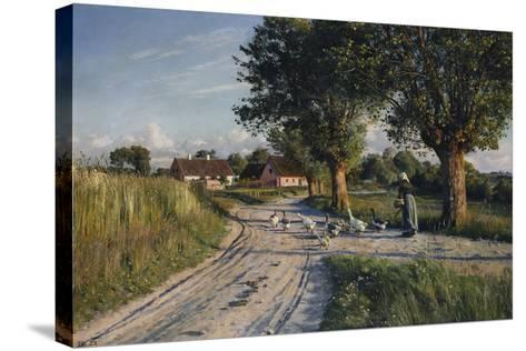 The Way Home, 1921-Peder Mork Monsted-Stretched Canvas Print