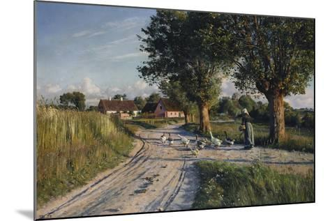 The Way Home, 1921-Peder Mork Monsted-Mounted Giclee Print