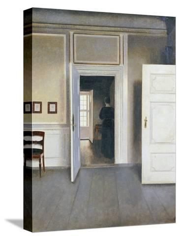 Woman in an Interior, Strandgrade 30, 1901-Vilhelm Hammershoi-Stretched Canvas Print