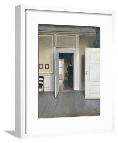 Woman in an Interior, Strandgrade 30, 1901-Vilhelm Hammershoi-Framed Art Print
