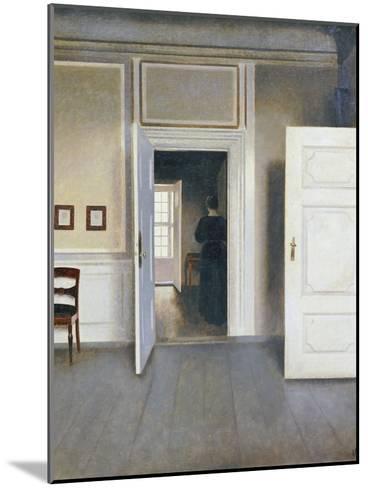 Woman in an Interior, Strandgrade 30, 1901-Vilhelm Hammershoi-Mounted Giclee Print