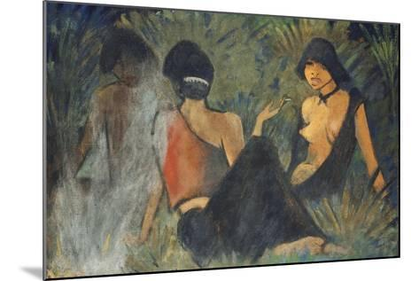 Gypsies by the Campfire (Recto); Zigeunerinnen Am Lagerfeuer (Recto), c.1927-Otto Muller or Mueller-Mounted Giclee Print