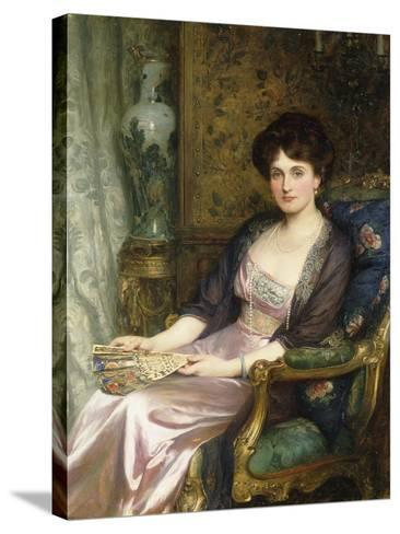 Portrait of a Lady Said to Be the Artist's Wife, 1911-Frank Bernard Dicksee-Stretched Canvas Print