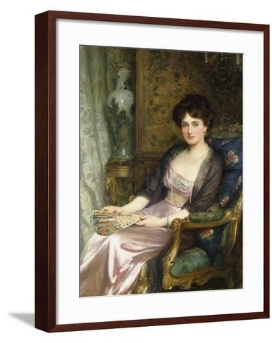 Portrait of a Lady Said to Be the Artist's Wife, 1911-Frank Bernard Dicksee-Framed Art Print