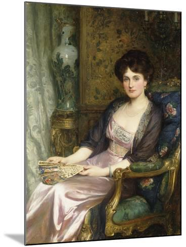 Portrait of a Lady Said to Be the Artist's Wife, 1911-Frank Bernard Dicksee-Mounted Giclee Print