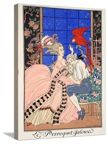The Jealous Parrot, 1919-Georges Barbier-Stretched Canvas Print