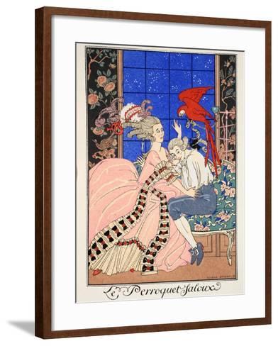 The Jealous Parrot, 1919-Georges Barbier-Framed Art Print