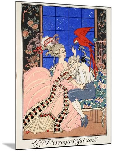 The Jealous Parrot, 1919-Georges Barbier-Mounted Giclee Print