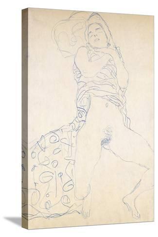 Nude; Halbakt, 1913 (Nude; Halbakt Gustav Klimt (1862-1918))-Gustav Klimt-Stretched Canvas Print