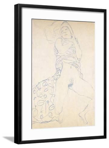 Nude; Halbakt, 1913 (Nude; Halbakt Gustav Klimt (1862-1918))-Gustav Klimt-Framed Art Print