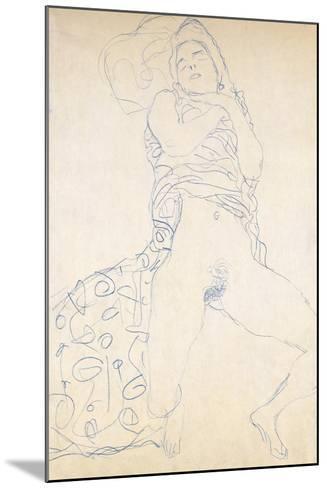 Nude; Halbakt, 1913 (Nude; Halbakt Gustav Klimt (1862-1918))-Gustav Klimt-Mounted Giclee Print
