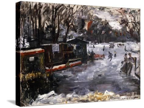Ice-Skating Rink in the Tiergarten, Berlin; Eisbahn Im Berliner Tiergarten, 1909-Lovis Corinth-Stretched Canvas Print