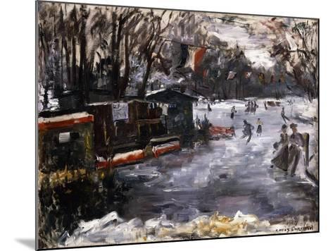 Ice-Skating Rink in the Tiergarten, Berlin; Eisbahn Im Berliner Tiergarten, 1909-Lovis Corinth-Mounted Giclee Print