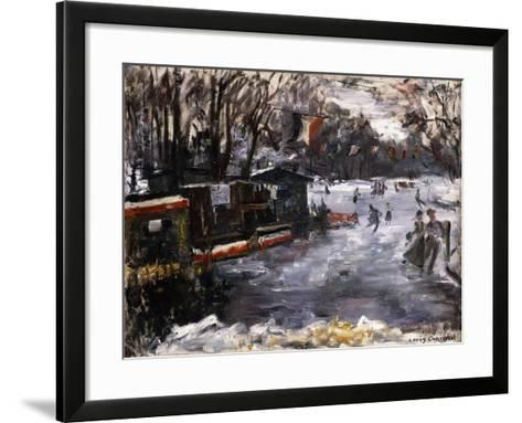 Ice-Skating Rink in the Tiergarten, Berlin; Eisbahn Im Berliner Tiergarten, 1909-Lovis Corinth-Framed Art Print