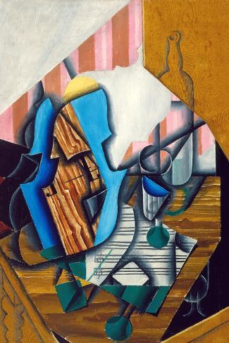 Still Life with Violin and Music Sheet, 1914-Juan Gris-Stretched Canvas Print