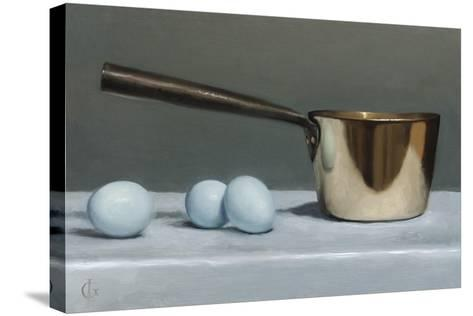 Brass Pan and Blue Eggs, 2011-James Gillick-Stretched Canvas Print