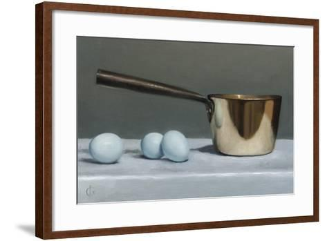 Brass Pan and Blue Eggs, 2011-James Gillick-Framed Art Print