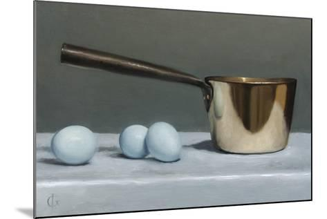 Brass Pan and Blue Eggs, 2011-James Gillick-Mounted Giclee Print