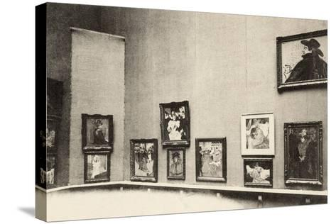 Grand Palais, Salon d'Automne, View of Toulouse-Lautrec's Paintings, 1905-French Photographer-Stretched Canvas Print