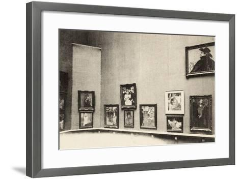 Grand Palais, Salon d'Automne, View of Toulouse-Lautrec's Paintings, 1905-French Photographer-Framed Art Print