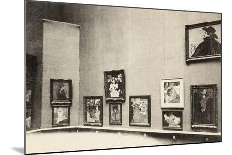 Grand Palais, Salon d'Automne, View of Toulouse-Lautrec's Paintings, 1905-French Photographer-Mounted Photographic Print