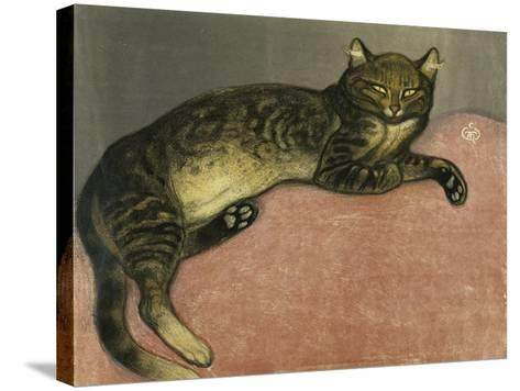 The Summer, Cat on a Railing; L'Ete, Chat Sur Une Balustrade, 1909-Th?ophile Alexandre Steinlen-Stretched Canvas Print