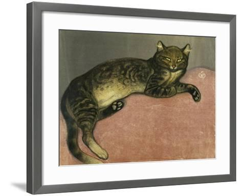 The Summer, Cat on a Railing; L'Ete, Chat Sur Une Balustrade, 1909-Th?ophile Alexandre Steinlen-Framed Art Print