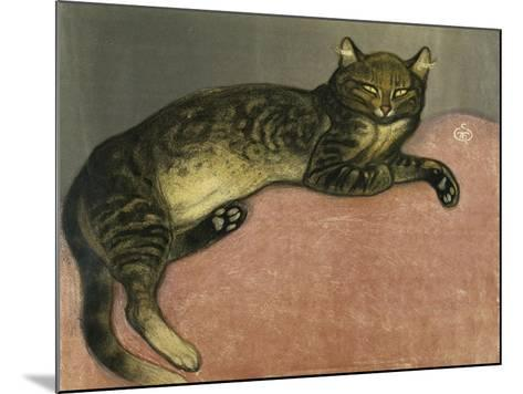The Summer, Cat on a Railing; L'Ete, Chat Sur Une Balustrade, 1909-Th?ophile Alexandre Steinlen-Mounted Giclee Print
