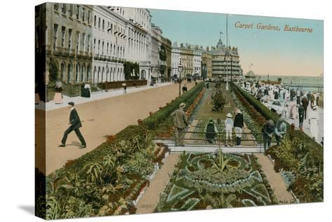 Carpet Gardens, Eastbourne, England. Postcard Sent in 1913-French Photographer-Stretched Canvas Print