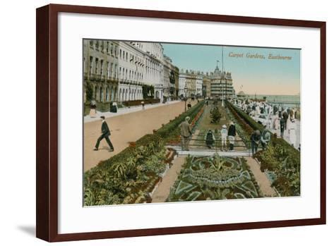 Carpet Gardens, Eastbourne, England. Postcard Sent in 1913-French Photographer-Framed Art Print