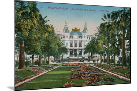 Monte-Carlo. The Gardens and the Casino. Postcard Sent in 1913-French Photographer-Mounted Giclee Print