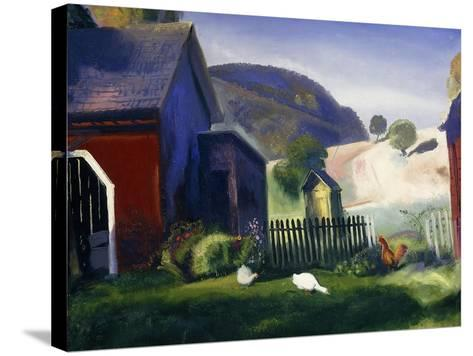 Barnyard and Chickens, 1924-George Wesley Bellows-Stretched Canvas Print