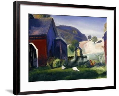 Barnyard and Chickens, 1924-George Wesley Bellows-Framed Art Print