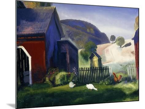 Barnyard and Chickens, 1924-George Wesley Bellows-Mounted Giclee Print