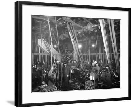 Factory Workers in St Petrsburg, c.1916-Russian Photographer-Framed Art Print