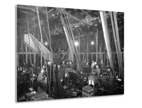 Factory Workers in St Petrsburg, c.1916-Russian Photographer-Metal Print