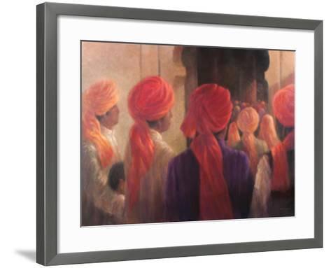Temple Steps, 2012-Lincoln Seligman-Framed Art Print