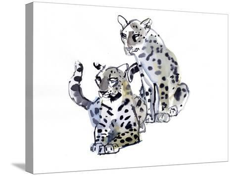 Mother and Son (Arabian Leopards), 2008-Mark Adlington-Stretched Canvas Print