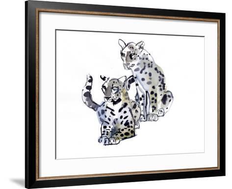 Mother and Son (Arabian Leopards), 2008-Mark Adlington-Framed Art Print