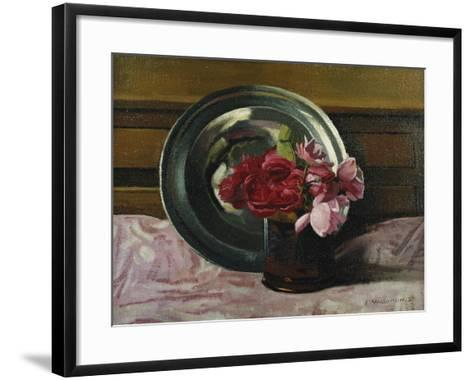Still Life with Roses; Nature Morte Aux Roses, 1920-F?lix Vallotton-Framed Art Print