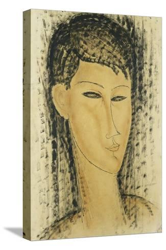 Head of a Young Women; Tete de Jeune Femme, 1914-Amedeo Modigliani-Stretched Canvas Print