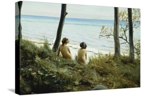 On the Beach, 1907-Harald Slott-Moller-Stretched Canvas Print